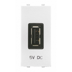 Białe gniazdo USB ABB - seria Zenit