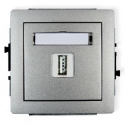 gniazdo USB podtynkowe Karlik Deco srebrny metalik
